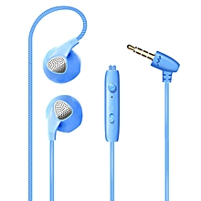 Five-color Dazzling Version of Heavy Bass In-ear Mobile Phone Wire-controlled Universal Earplug Headphones
