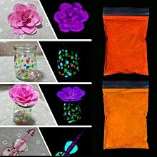 DIY Color Photoluminescent Powder Nail Paint PrintingBright Fluorescent Pink