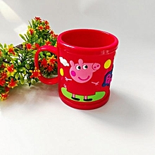 Cartoon Peppa Pig Brushing Cup George Tooth Brush Cup Water Cups -Red