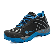 Spring Autumn Outdoor Men Hiking Mountain Climbing Shoes Anti-skid Breathable Trekking Shoes Casual Travel Sports Sneakers - Blue