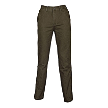 Jungle Green Slim Fit Khaki Pants