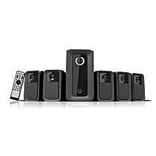Multimedia Woofer HT-6010W Five Speakers- Black 5.1CH