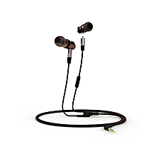 X46M Detachable HiFi Earphones With MIC - Gray