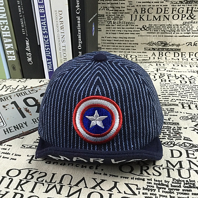 753afa187 Kids Baby Boys Baseball Cap Cartoon Captain Amereica Print Cotton Caps Hat  - Blue