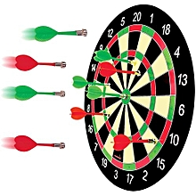 Magnetic Dart Set with Dartboard and 3 Darts & a Writing Board with Colourful Marker Pen and Eraser