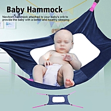 TMISHION Baby Portable Elastic Detachable Infant Crib Sleep Bed Hammock (Blue Color)