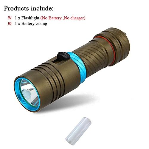 Ultrafire 18650/26650 Diving LED Flashlight Flash Light Portable Lightning  Lantern LUZ Bright Light Flashlight Diving Flashlight