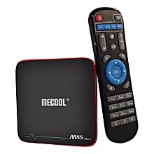 Android TV Box S905W CPU 2.4GHz WiFi 4K - EU Plug - Black