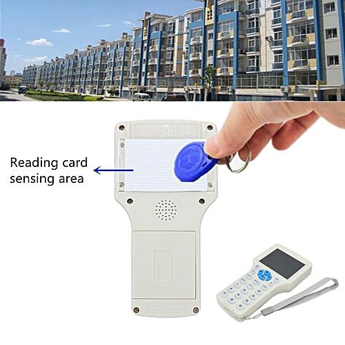 10 Frequency RFID Copy Encrypted NFC Smart ID/IC Card Reader Writer w/  Keyfbob