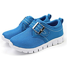 jiuhap store Toddler Kids Sport Running Baby Shoes Boys Girls Air Mesh Shoes Sneakers - Blue