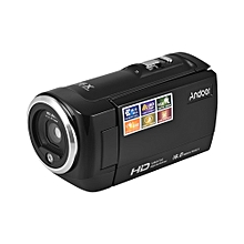 Portable HD 720P Digital Video Camera Camcorder DV Recorder 16MP 16X Zoom Supports Night Vision Anti-shake Function with Rechargeable Li-ion Battery