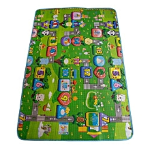 Double-sided Soft Foam Play Crawling Mat - 120x180cm - Multicolor.