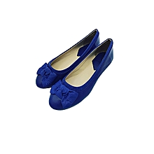 Blue Closed Toe Women's Doll Shoes.