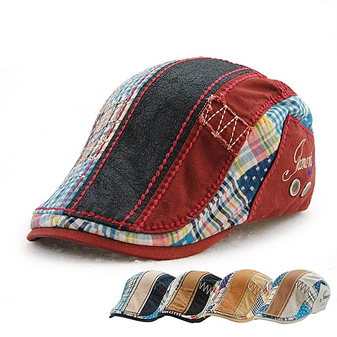 Men Women Cotton Washed Beret Hat Buckle Adjustable Paper Boy Newsboy  Cabbie Golf Gentleman Cap d2471657d0fa