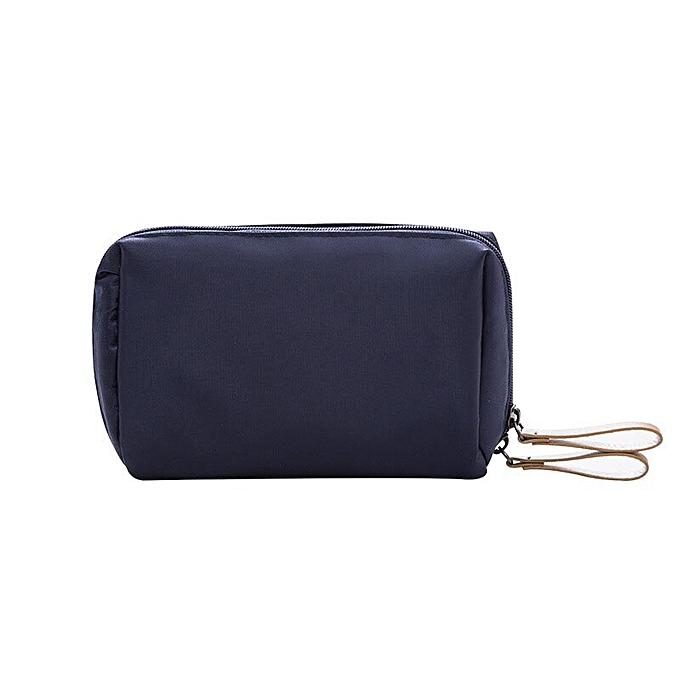 3a10cd316ad2 fashion Ladies Cosmetics Cosmetic Bag Organizer Travel Nylon mini Cosmetic  Bag Girl Women makeup bags(Navy)