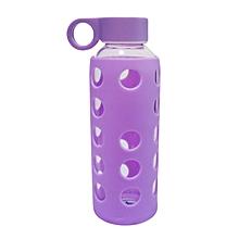 Glass Water Bottle - 460ml - Purple
