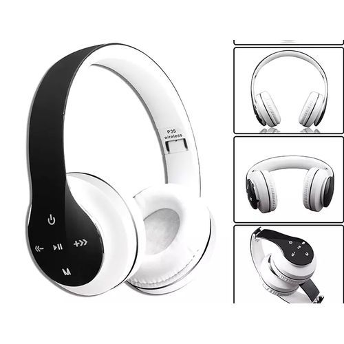 Wireless Bluetooth 4.2 Stereo  Headset Earphone For Mobile Phones P35 - White