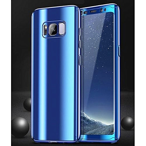 hot sale online f336b 21ac2 Samsung Galaxy S8 Plus Sleek Full Body Case Mirror Glass Slim Front Back  Hard Case For Galaxy S8 Plus With Tempered Glass Screen Protector 360  Degree ...