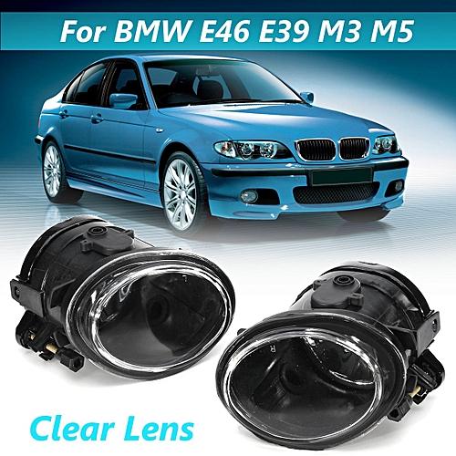 2x Clear Sport Front Fog Lights For Bmw E46 E39 M Sport Mtech M3 M5 1998 04