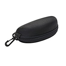 douajso  Portable Zipper Eye Glasses Sunglasses Clam Shell Hard Case Protector