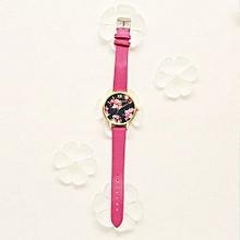 Luxury Women's  LVPAI Wrist Watches  Watches Women Quartz Wristwatch Clock Ladies Dress Gift Watches- Hot Pink