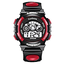 Children LED Waterproof Digital Watches -Red