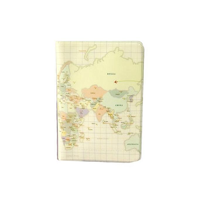 World Map Passport Holder.Fashion Mappa Passaporto Travel Utility World Map Passport Id Card