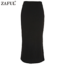 Sexy Pencil Ankle-Length Long Beach Party Slim Flare Skirts - Black - Black - 8