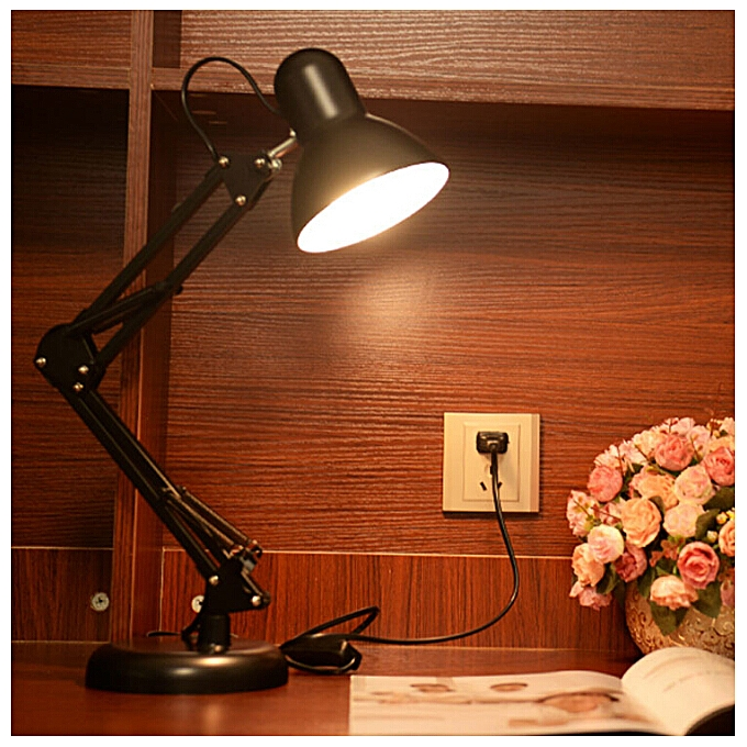 Long Swing Arm Adjule Clic Desk Lamps E27 Led With Switch Table Lamp For Office Reading
