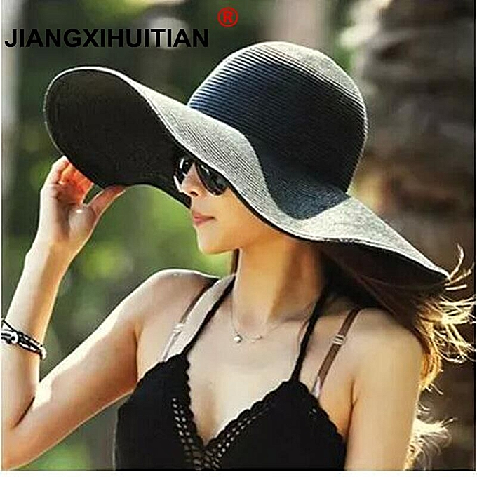 66936b2f ... Women With Big Heads(4) · Summer Fashion Floppy Straw Hats Casual  Vacation Travel Wide Brimmed Sun Hats Foldable Beach Hats For