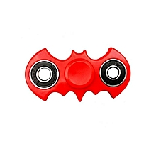 Fidget Hand Spinner Electroplated Batman Stress Reliever Focus Gift Toys - Red