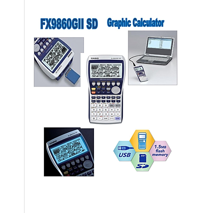 GRAPHIC SCIENTIFIC CALCULATOR FX9860GII SD
