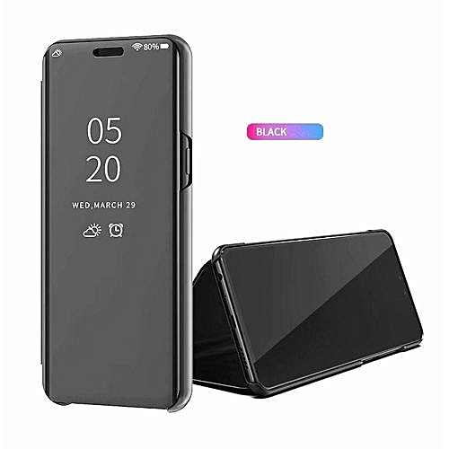 best sneakers 14625 9f76e Clear View Smart Mirror Case For Huawei Y9 2019, Flip Case PU Leather Smart  Window View Stand Full Cover For Huawei Y9 2019