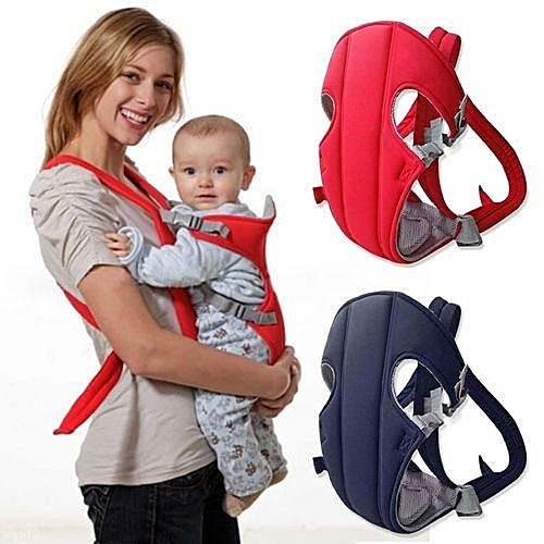 Newborn Infant Baby Carrier Backpack Breathable Front Back Carrying Sling Navy Blue
