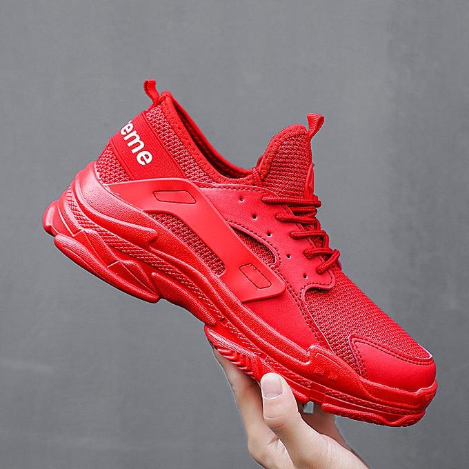 Shoes Sports Men's Fashion Supreme Red Sneaker CxohQBrdts