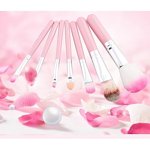 3954fd040 Generic KT cat makeup brush 7 iron box wooden handle Hello Kitty makeup  brush tool