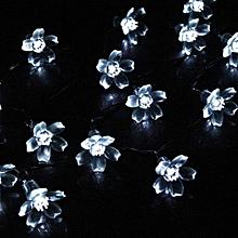 50 LED Fairy String Solar LED Bulb Light For Wedding Party Xmas Garden Decor WH