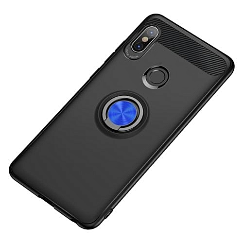 wholesale dealer 78d01 7f77b Xiaomi Redmi Note 5 Pro TPU Anti-knock Phone Back Cover With Metal Ring -  Black(blue Ring)