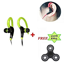 BT-1 Sports Bluetooth Earphones In-Ear Wireless Headsets Sweatproof Stereo Earbuds Handsfree Headphones With Mic For Phones And Free Gift