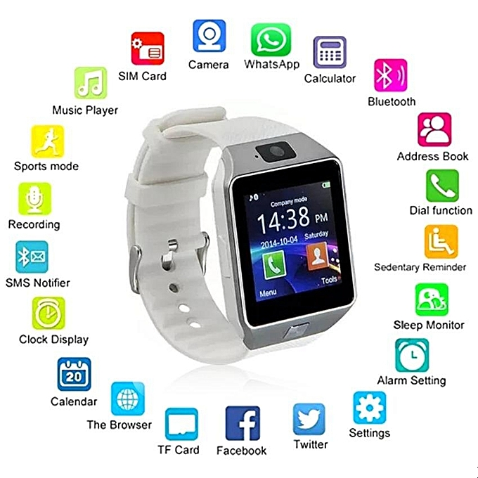 Generic Hot Wearable Devices Dz09 Smart Watch Support Sim Tf Card