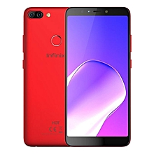 "HOT 6 Pro x608 - [32GB + 3GB RAM] - 6.0"" - Fingerprint - 4000mAh Battery - 4G LTE - Face ID - Red."