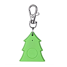 Mini Christmas Tree Shape Smart Tag Bluetooth 4.0 Wallet Key Keychain Finder-green