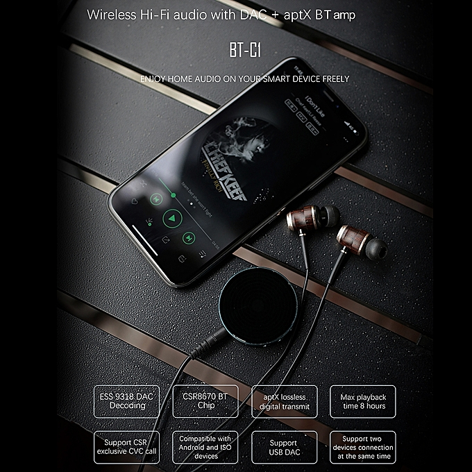 Colorfly BT-C1 Headphone Amplifier Portable Mini Bluetooth 5 0 USB DAC  Decoding Headphone Amp HD Signal Transmission Support Apt-X for iOS Android