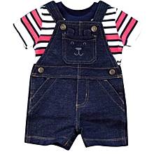 Denim Baby Boy Cotton Dungaree Set