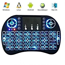 Wireless Keyboard with Touch pad for Smart TV  - Black