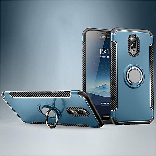 KZ Slim Fit Hybrid Dual Layer Armor Shock Absorption Rugged Defender with Ring Holder Kickstand Drop Protection Soft Rubber Bumper Case Cover for Samsung Galaxy J7 Plus   XXZ-Z