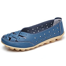 Generic Women's Shoes Lady Flats Sandals Leather Ankle Casual Slipper Soft Shoes A1