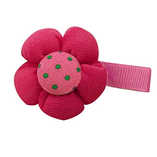 Fovibery Fashion Cute Candy Color Flower Hair Clips Baby Hairpin Child Accessories