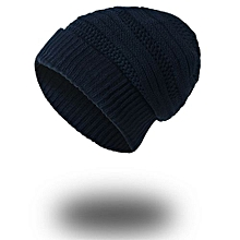 Mens Causal Warm Winter Knit Baggy Beanie Hat Ski Slouchy Head Cap NY