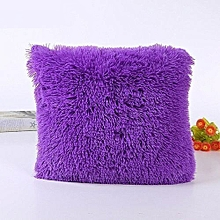Fluffy Pillow Cover / Throw Pillow Cover / Sofa Pillow Cover / Seat Pillow Cover  18'' x 18'' - Purple